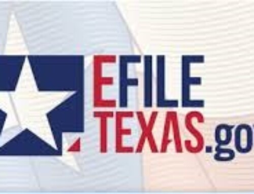 Order Requiring Electronic Filing Of Civil Cases In Texas